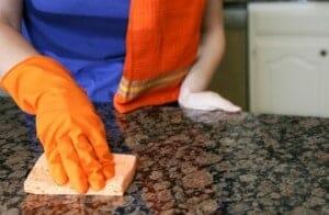cleaning granite