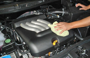 cleaning an engine