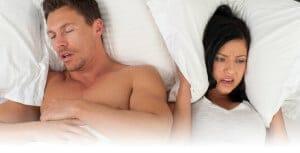 couple trying to sleep