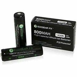 best 14500 battery for flashlight