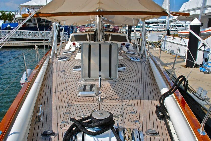 Best teak wood on sailing boat