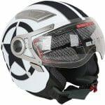 TCMC bike helmets white black dual visor motorcycle