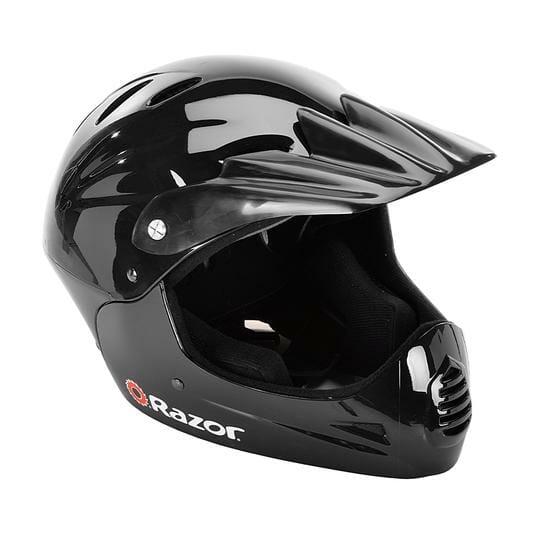 The Razor Full Face Youth Helmet black color