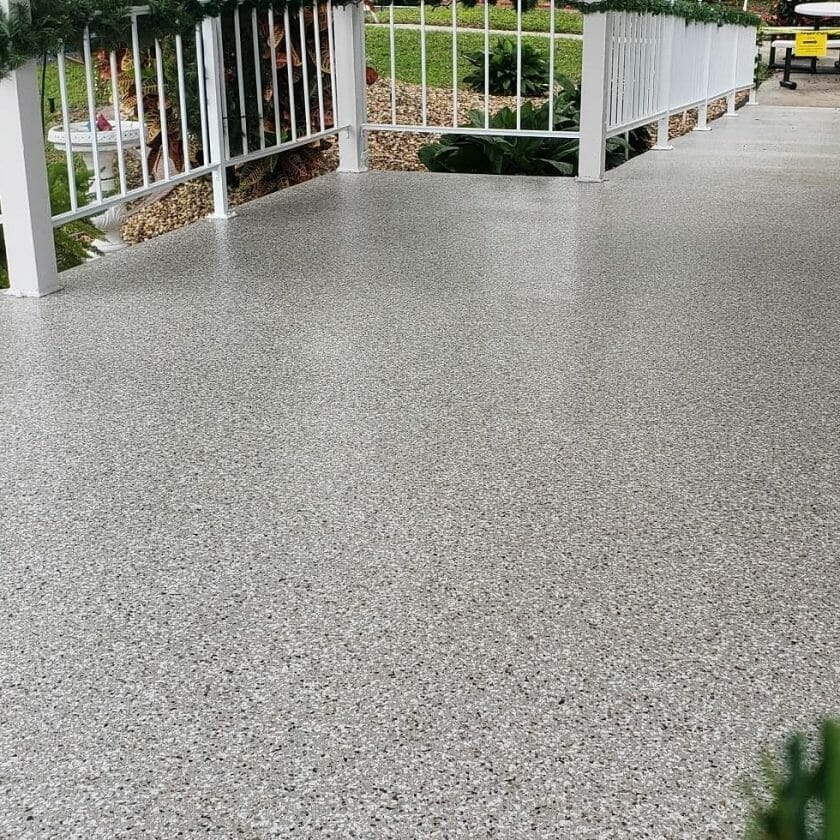 The Best Garage Floor Coating Epoxy and Paint and flakes